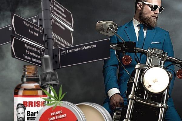 © BRISK Neuheit: pflegender Bart-Balm mit Hanföl