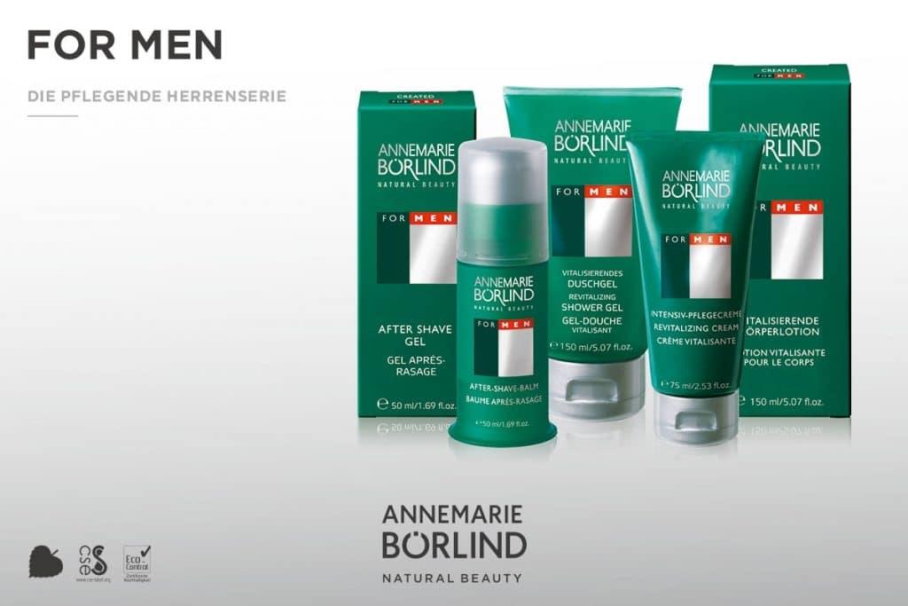 © Annemarie Börlind FOR MEN Produktkollektion - hautverträglich und bedürfnisorientiert für maskulines Wohlbefinden