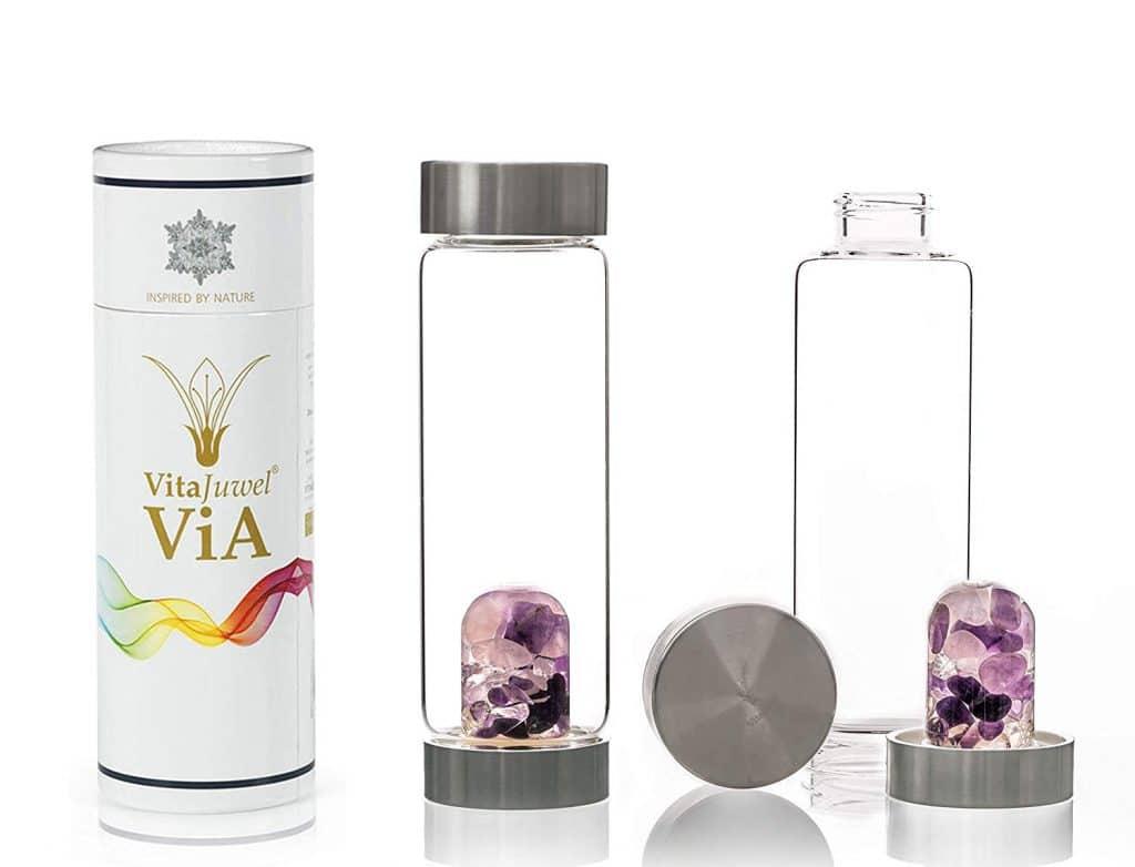 © VitaJuwel ViA Edelsteinmischung mit Rosenquarz, Bergkristall und Amethyst