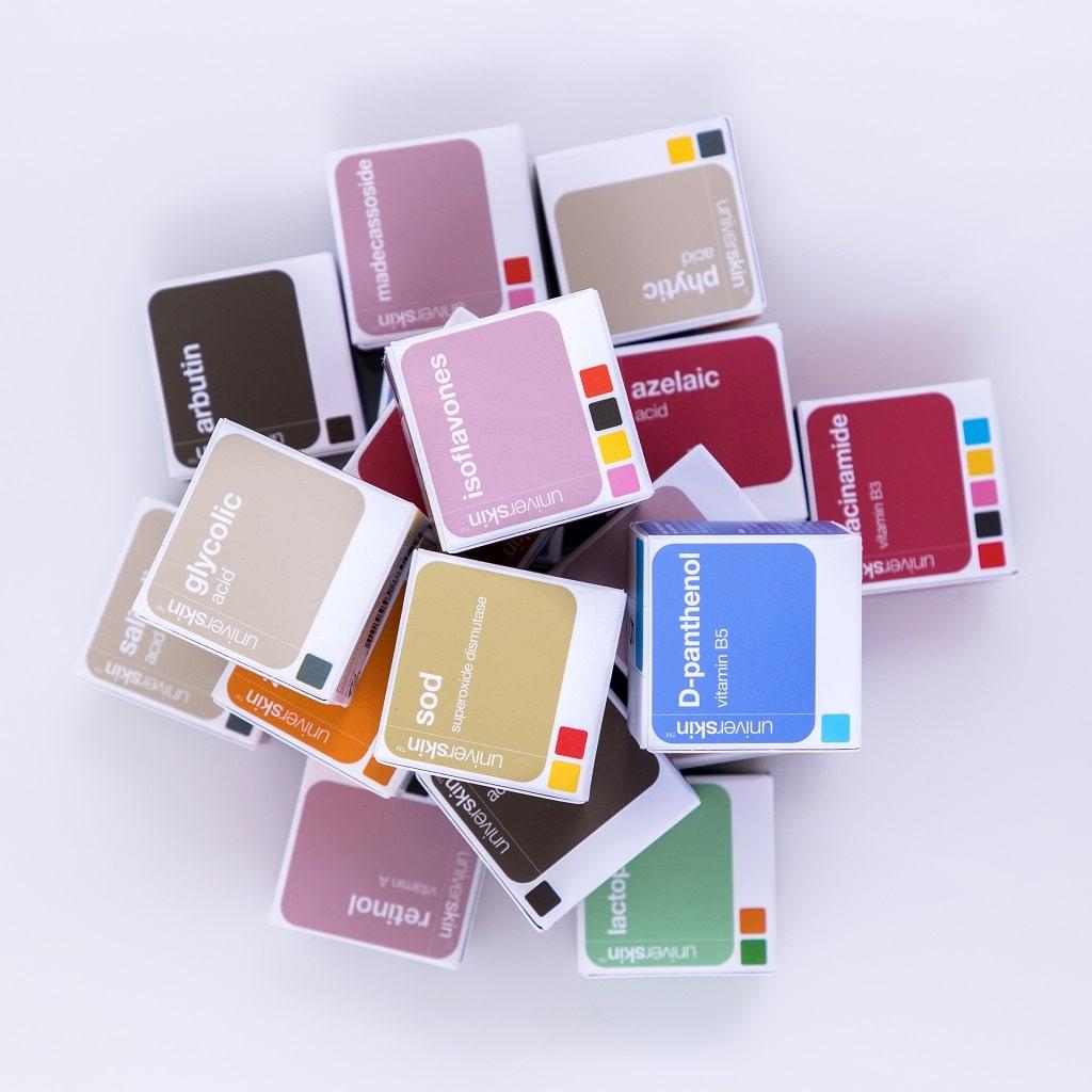 © UNIVERSKIN - konzentrierte personalisierte Wirkstoff-Cocktails für jedes Hautbedürfnis