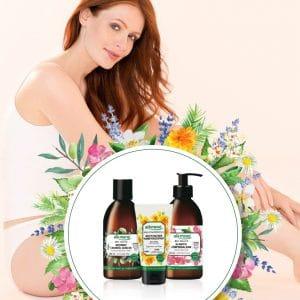 © alkmene Bio-Heilpflanzen aus Olive, Malve und Calendula im Körper-Trio