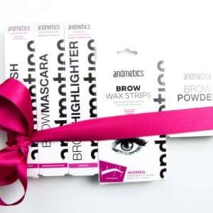 © andmetics - praktische Expertentools für schön geformte Augenbrauen
