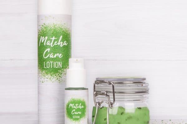 © Catherine Matcha Care - antioxidativ wirksames Wellness-Trio für Gesicht und Körper mit Matcha-Tee-Extrakt