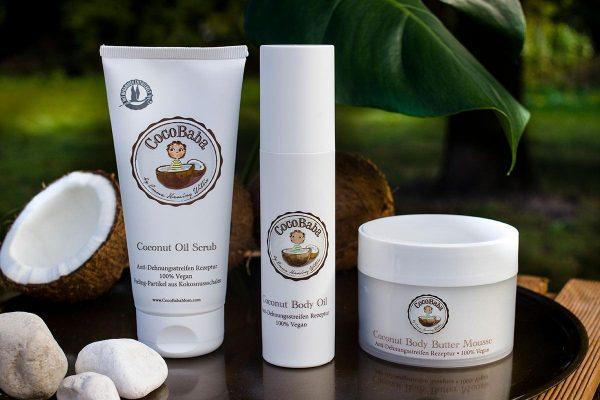 © CocoBaba - optimal verträgliche Mommy-Kosmetik mit 100 Prozent reinem Bio-Kokosöl