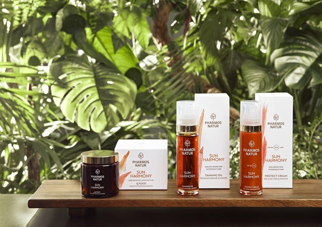 © PHARMOS NATUR NATUR SUN HARMONY - natürlich-biologischer Antioxidantien-Sonnenschutz mit Achiote-Samen aus Ecuador
