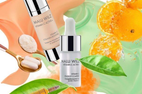 © MALU WILZ Beauté Vitamin C Active+ Kollektion mit konzentriertem Vitamin C und restrukturierenden Kollagen-Peptiden