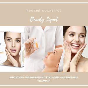 © RUGARD Cosmetics Beauty Liquid - Trinkampulle mit geprüftem Premium-Kollagen, Hyaluron und Vitaminen