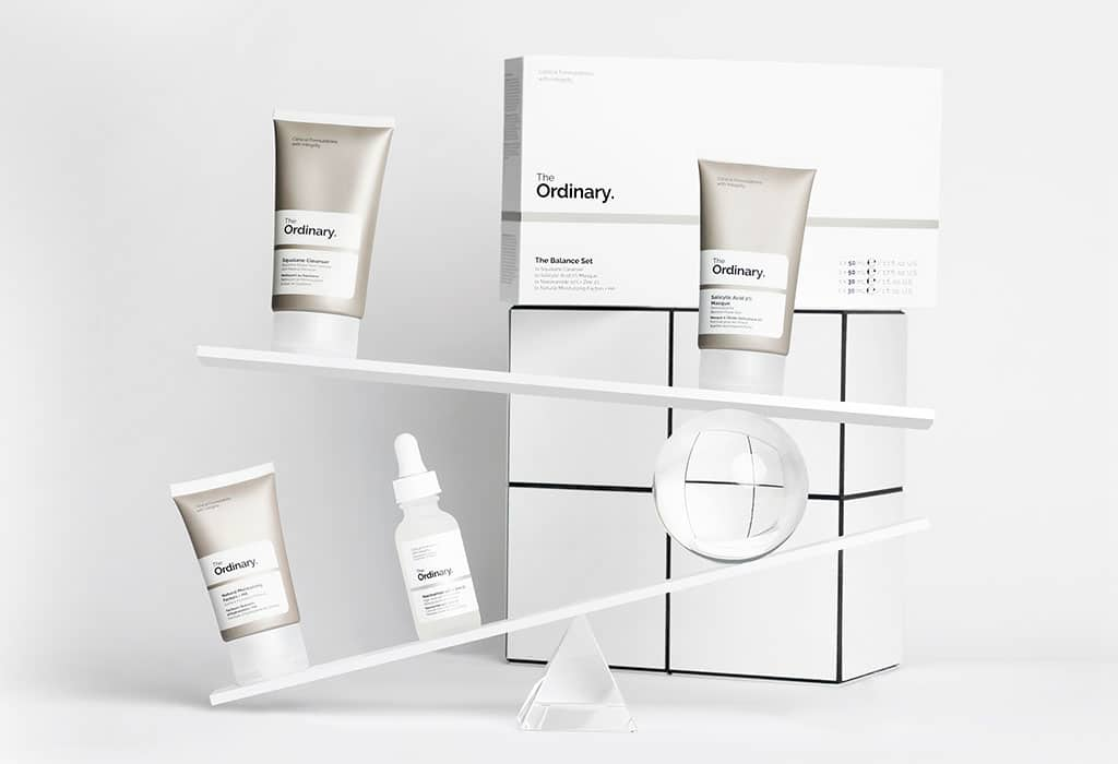 © The Ordinary The Balance Set mit Cleanser, Vitaminserum, Moisturizer und Maske