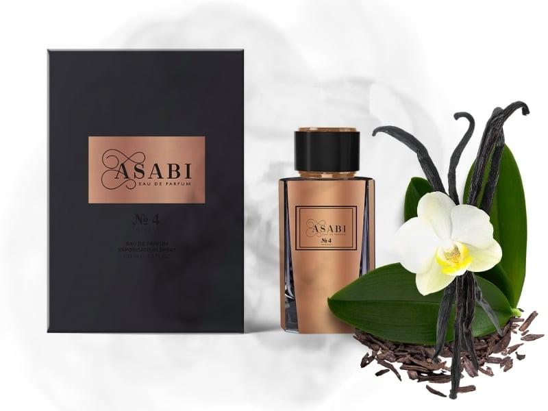 © ASABI Parfumes N°4 mit warmen Amber-Noten