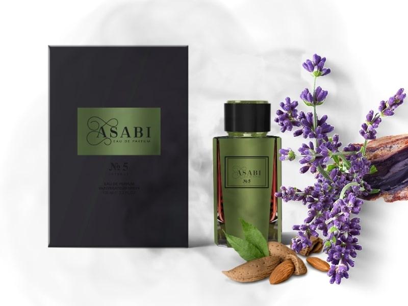 © ASABI Parfumes N°5 - mediterraner Unisex-Duft mit Myrrhe und Lavendel