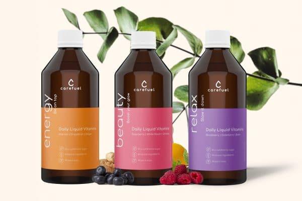 © carefuel Daily Liquid Vitamins - farbenfrohe Wake-up-Booster für die Inner Beauty