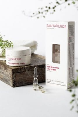 © SANTAVERDE Naturkosmetik Enzyme Peeling Powder & Hyaluron Duo Treatment